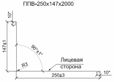 Планка примыкания верхняя
